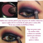 Tutorial - Cat Eyes Preto e Vinho!