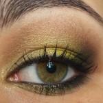 Maquiagem amarela e dourada com Contém 1g