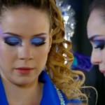 Make roxo e azul com sombra Laguna Opaco da Contém 1g