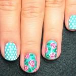 Passo a Passo - nail art floral de rosas por Melissa Menezes