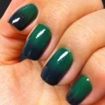 Tutorial - Unhas ombré em verde esmeralda e preto por Melissa Menezes