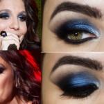 Tutorial - maquiagem azul e preta inspirada na usada por Ivete Sangalo no Rock in Rio