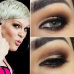 Tutorial - maquiagem dourada e marrom inspirada em Jessie J