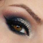 Tutorial - maquiagem com azul e dourado para o Natal por Claudia Guillen