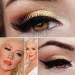 Tutorial - maquiagem dourada inspirada em Christina Aguilera