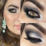 Vídeo - maquiagem olho esfumado cut crease, brilho pérola e verde sereia