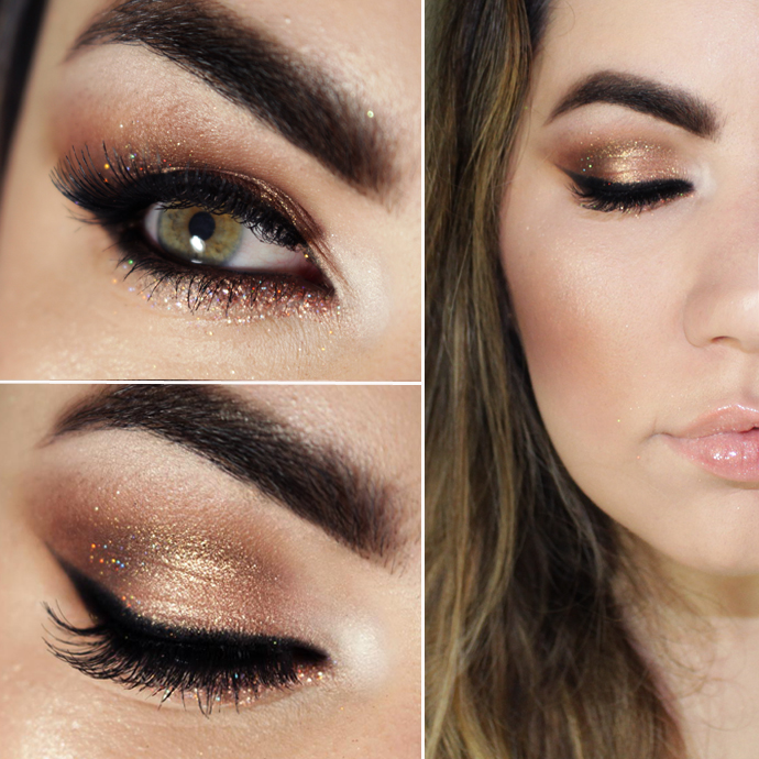 Tutorial - rose gold makeup for New Year's Eve