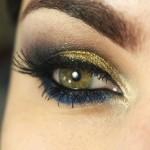 Tutorial - maquiagem para pele morena e negra com dourado e azul