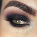 Tutorial - olho preto esfumado com glitter e roxo