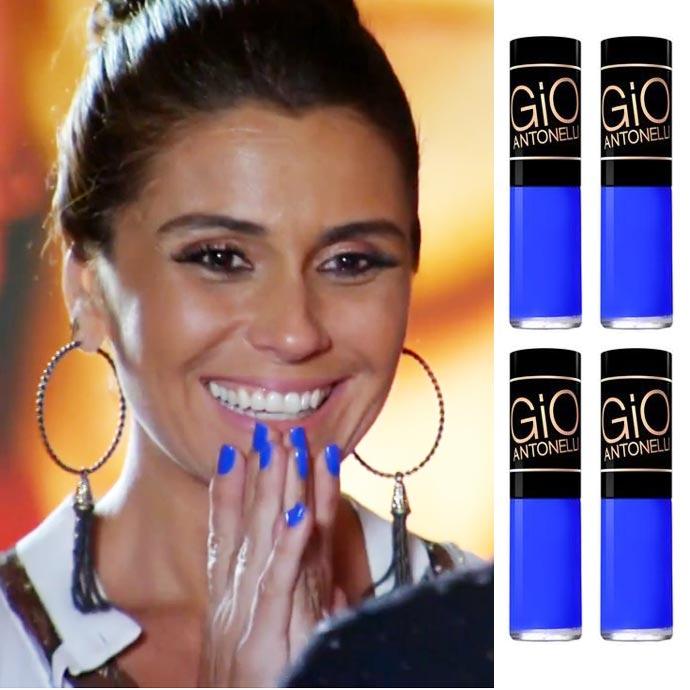 esmalte giovanna antonelli novela O esmalte azul da Giovanna Antonelli na novela Em Família