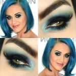 Tutorial - maquiagem azul inspirada em Katy Perry