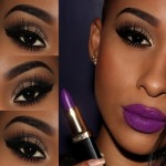 Tutorial - make poderosa com batom roxo