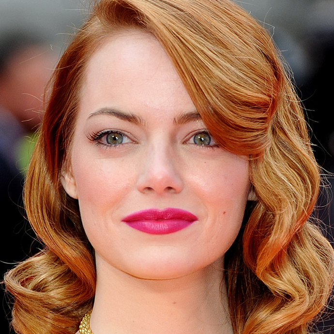 "LONDON, ENGLAND - APRIL 10: Emma Stone attends the World Premiere of ""The Amazing Spider-Man 2"" at Odeon Leicester Square on April 10, 2014 in London, England. (Photo by Anthony Harvey/Getty Images)"