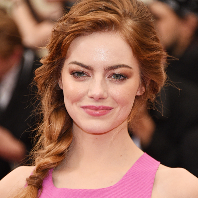 "NEW YORK, NY - MAY 05: Emma Stone attends the ""Charles James: Beyond Fashion"" Costume Institute Gala at the Metropolitan Museum of Art on May 5, 2014 in New York City. (Photo by Larry Busacca/Getty Images)"