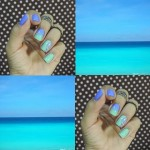 Unhas inspiradas no Mar Do Caribe