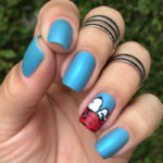 Tutorial Nail Art Snoopy