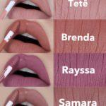 Os novos batons líquidos da linha Bruna Tavares: Tetê / Samara / Brenda / Rayssa