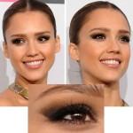 Jessica Alba e tutorial de make para olho caído!
