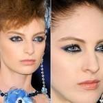 Maquiagem azul inspirada em Chanel