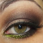 Glitter verde da Dailus para dar um up no make!