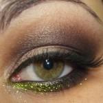 Glitter verde da Dailus para dar um up no make!