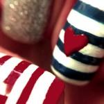 Tutorial - unha nail art fofa de marinheira por Melissa Menezes