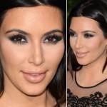 O make chumbo e preto de Kim Kardashian