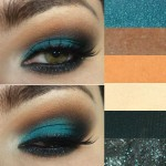 Tutorial - Maquiagem com sombra oceano e cor de laranja!