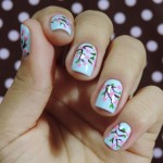 Tutorial - nail art de cerejeira florida