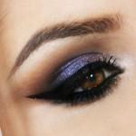 Tutorial - maquiagem roxa cintilante