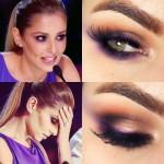 Tutorial - Maquiagem roxo da Cheryl Cole no X Factor