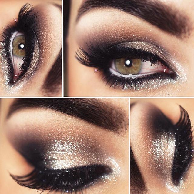 Maquiagem para formatura com glitter nos olhos