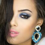 Tutorial - maquiagem azul diva com toque de cristal