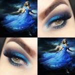 Tutorial - maquiagem inspirada no vestido da Cinderella