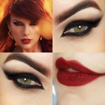 Tutorial - makeup com olho preto felino da Taylor Swift em Bad Blood