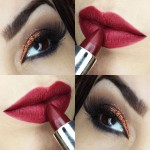 Tutorial - maquiagem coral com batom vermelho