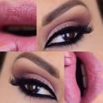 Tutorial - maquiagem rosa e vinho com delineado egípcio