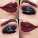 Tutorial - olho preto esfumado com glitter